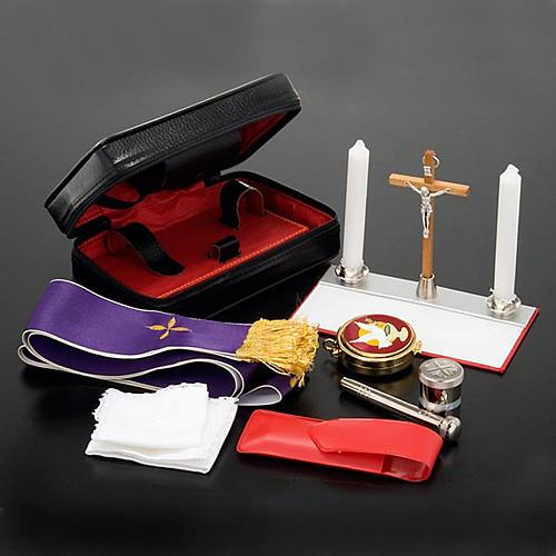 Estuche en cuero similar foca con pequeño altar extraíble 2