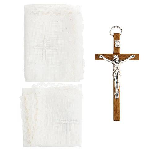 Estuche en cuero similar foca con pequeño altar extraíble 3