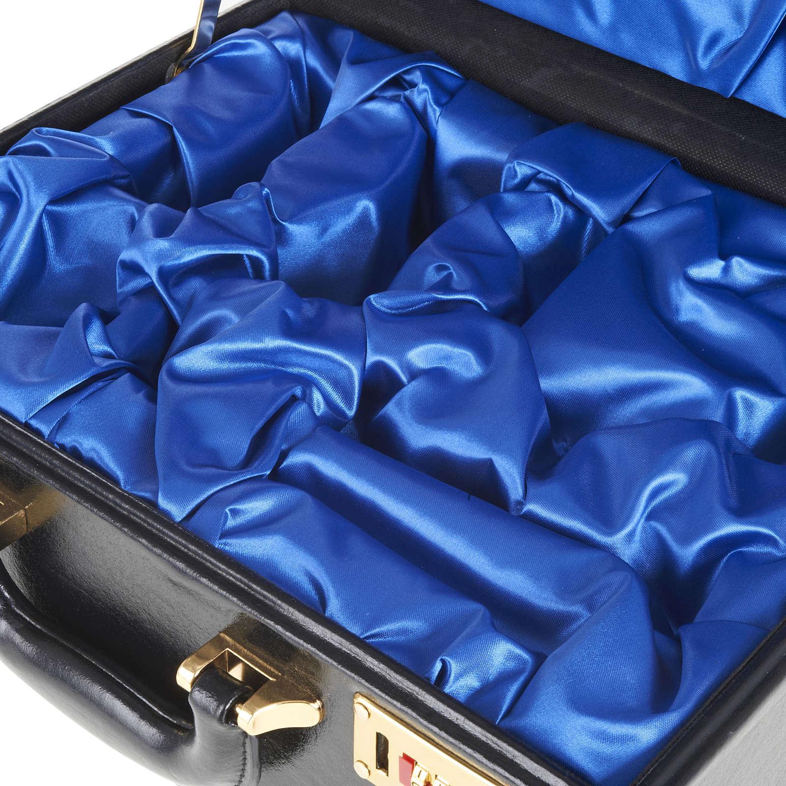 Valigia per celebrazioni vuota interno raso blu 3
