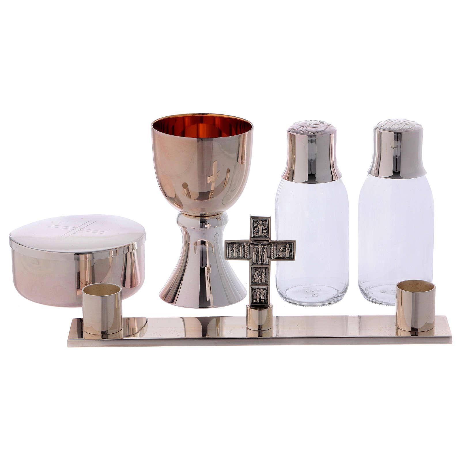 Service de messe valise chapelle objets laiton argenté Molina 3
