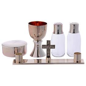 Service de messe valise chapelle objets laiton argenté Molina s2