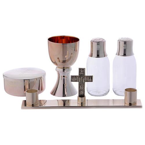 Service de messe valise chapelle objets laiton argenté Molina 2