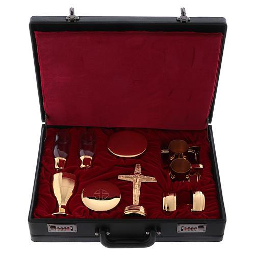 Valigetta per celebrazioni oggetti ottone dorato Molina 1