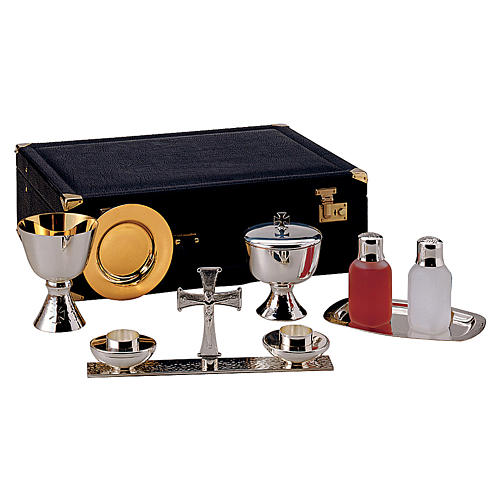 Molina celebration briefcase with objects in silver brass 1