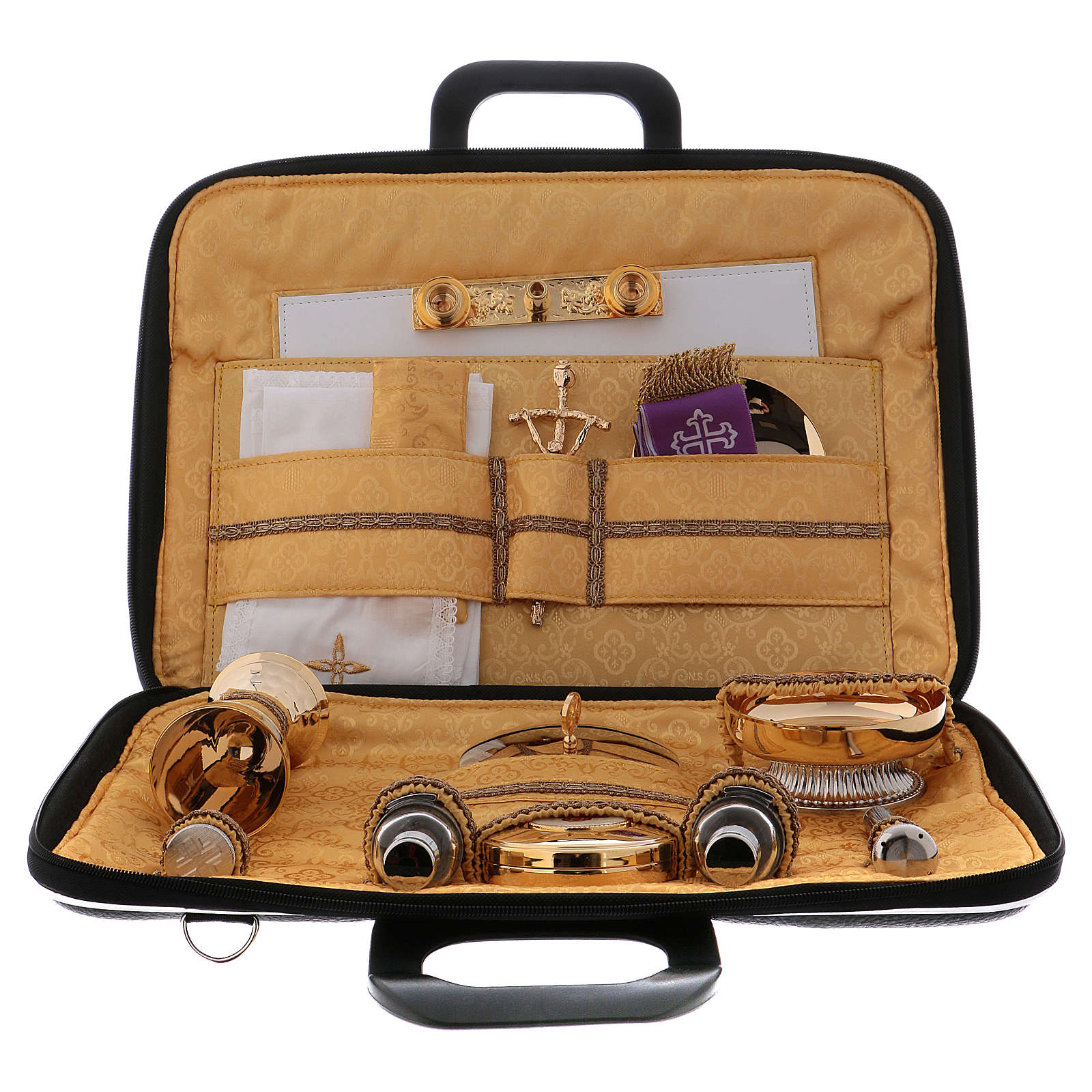 Cartella kit messa in ecopelle e raso giallo modello portapc 3