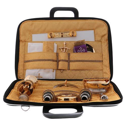 Cartella kit messa in ecopelle e raso giallo modello portapc 4