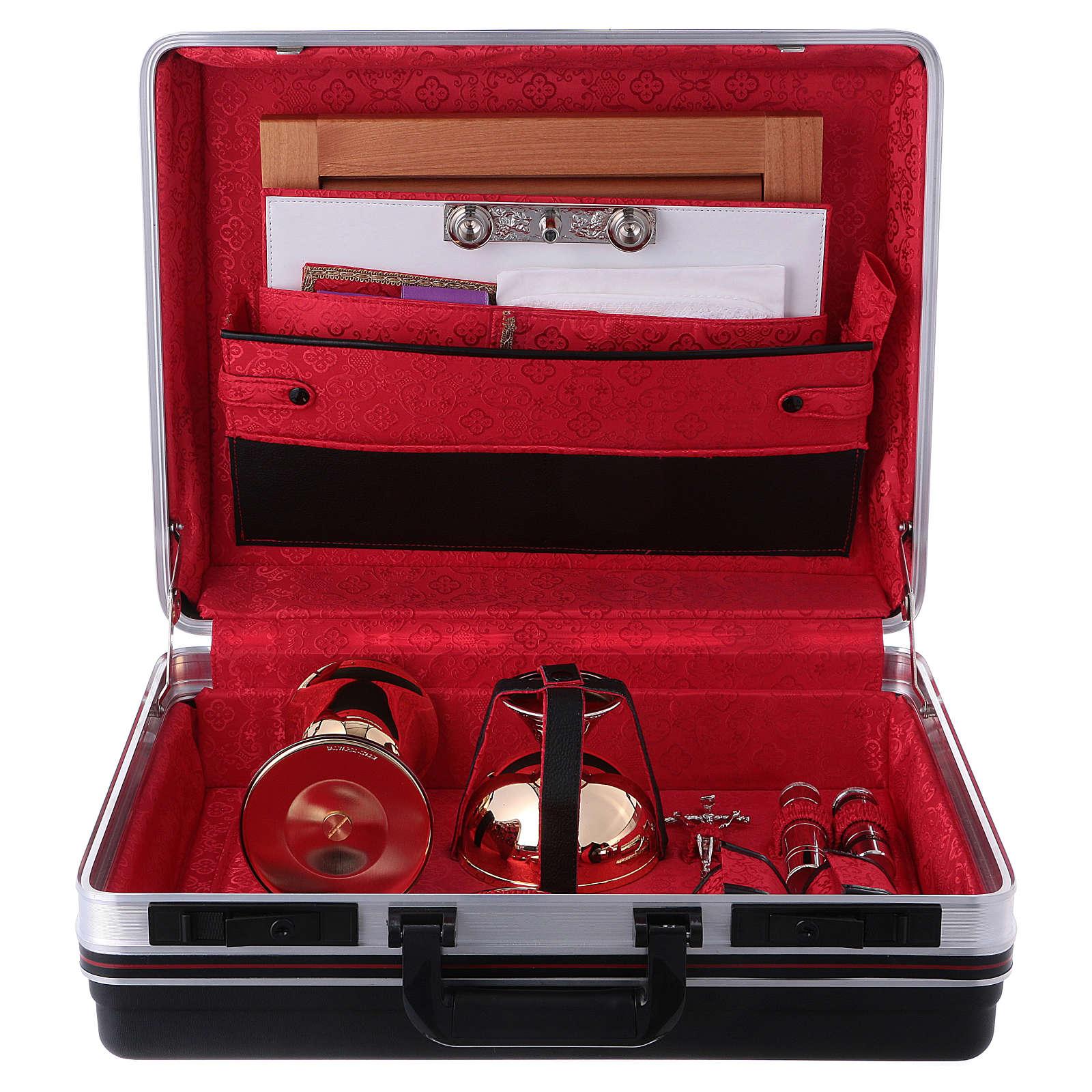 Priester Messkoffer aus ABS und roten Satin Futter 3
