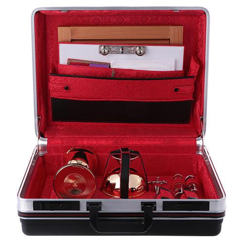 Priester Messkoffer aus ABS und roten Satin Futter 6