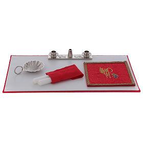 Valigia per celebrazione in ABS e raso rosso s7