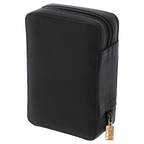 Estuche para relicario cuero negro y raso con accesorios 4