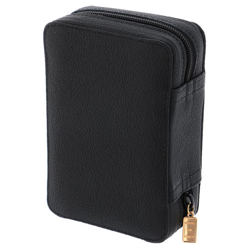 Astuccio portateca pelle nera e raso con accessori 4