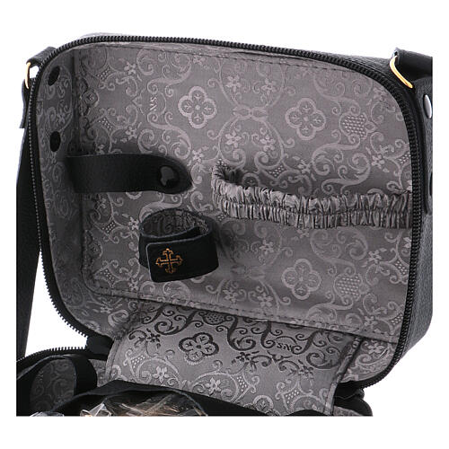 Mass kit with leather bag, lined with grey fabric 6