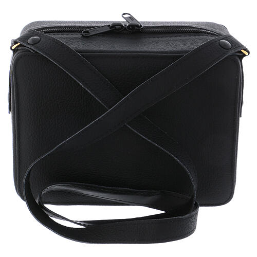 Mass kit with leather bag, lined with grey fabric 7