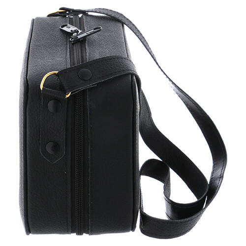 Mass kit with leather bag, lined with grey fabric 8