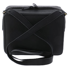 Bolsa tiracolo em couro com kit para Celebração Eucarística Interior Cinzento s7