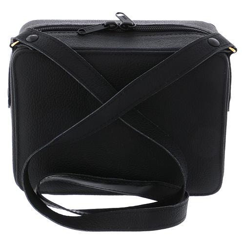 Bolsa tiracolo em couro com kit para Celebração Eucarística Interior Cinzento 7