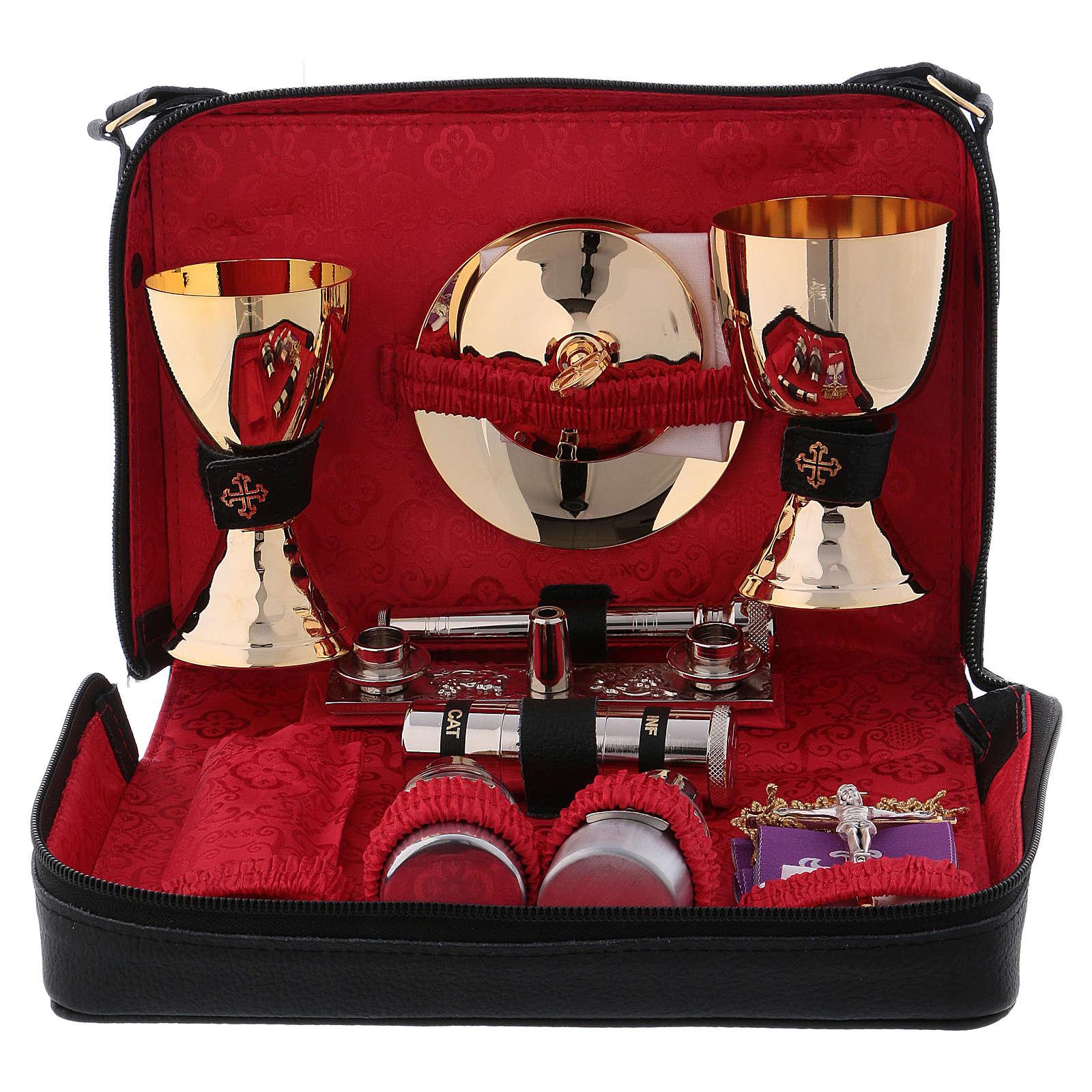 Bolso cuero color rojo para misas y celebraciones 3