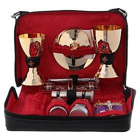 Bolso cuero color rojo para misas y celebraciones s3