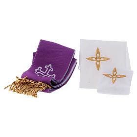 Bolso cuero color rojo para misas y celebraciones s5