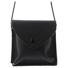 Valises Chapelle: Sacoche pour célébrations cuir noir avec bouton pression et cordon
