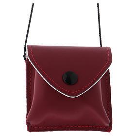 Valises Chapelle: Sacoche pour célébrations cuir rouge avec bouton pression et cordon et tissu