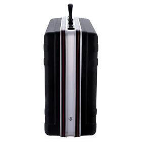 Mass kit with suitcase in plastic and metal, lined with red satin s9