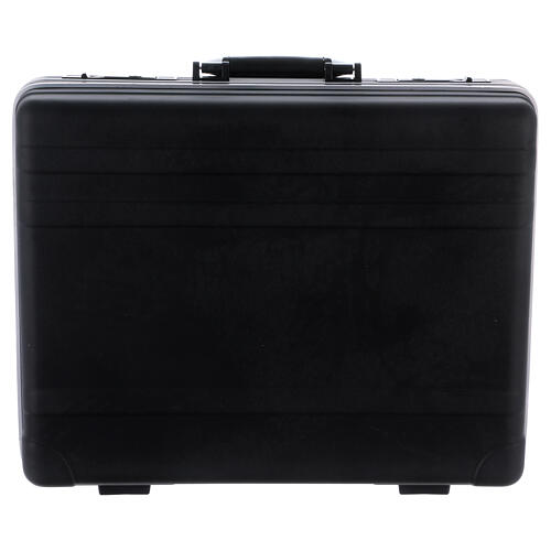 Mass kit with suitcase in plastic and metal, lined with red satin 8