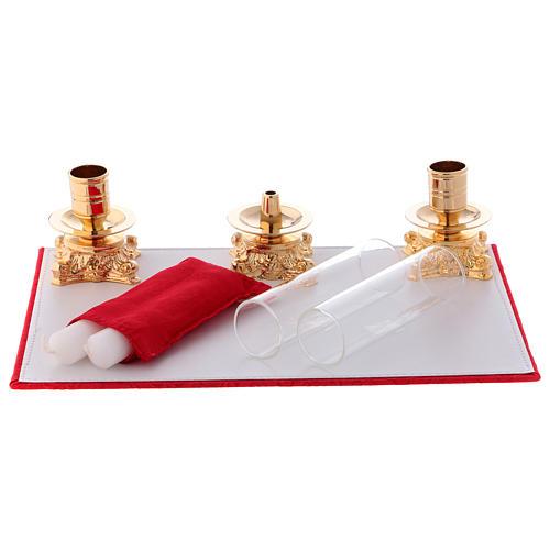 Valigia celebrazioni interno foderato Jacquard rosso pannello portaoggetti estraibile 5