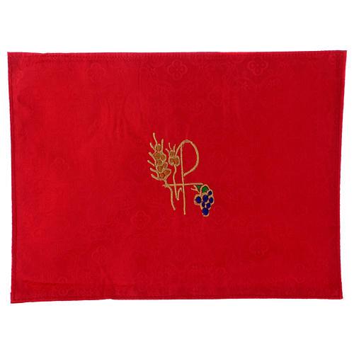 Valigia celebrazioni interno foderato Jacquard rosso pannello portaoggetti estraibile 7