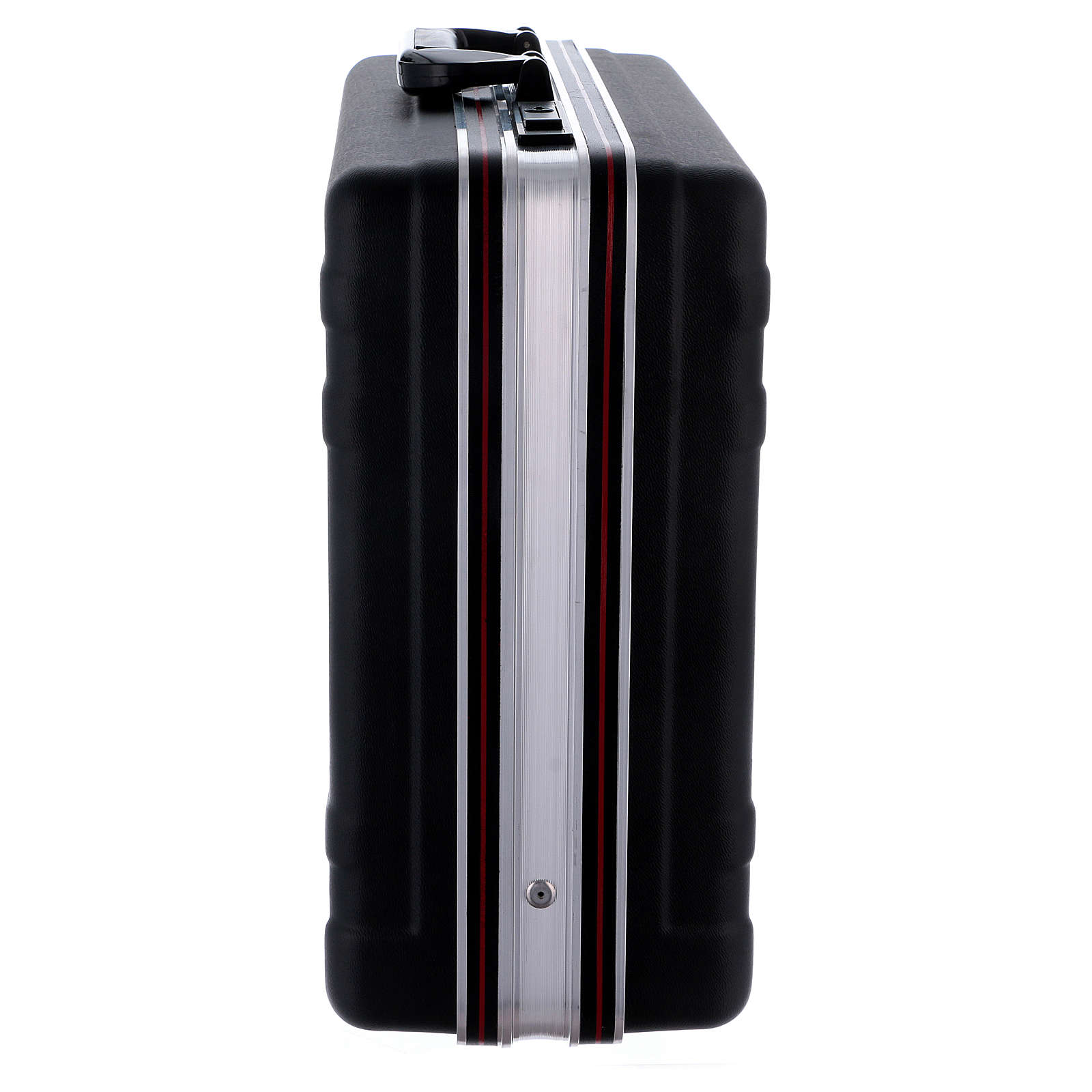 Valigia set da messa in plastica interno raso rosso 3