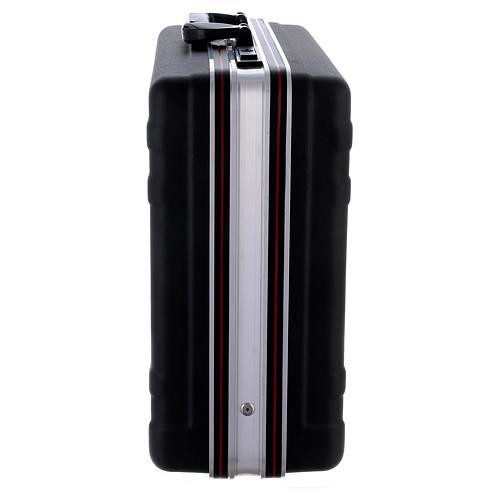 Valigia set da messa in plastica interno raso rosso 8