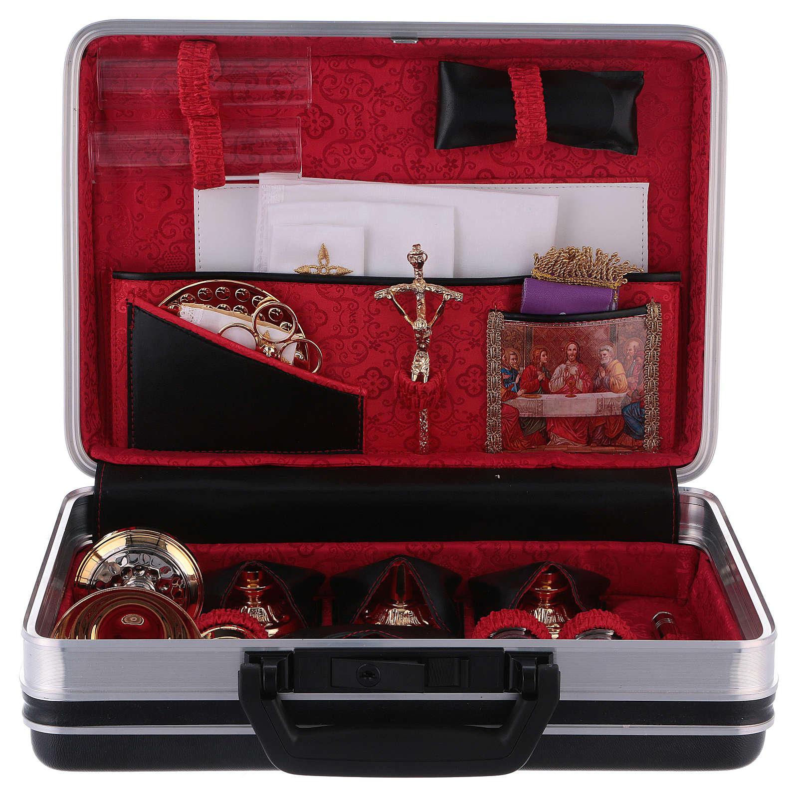 Valigetta per celebrazioni 24 x 35 cm fodera jacquard rosso 3