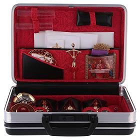 Valigetta per celebrazioni 24 x 35 cm fodera jacquard rosso s1
