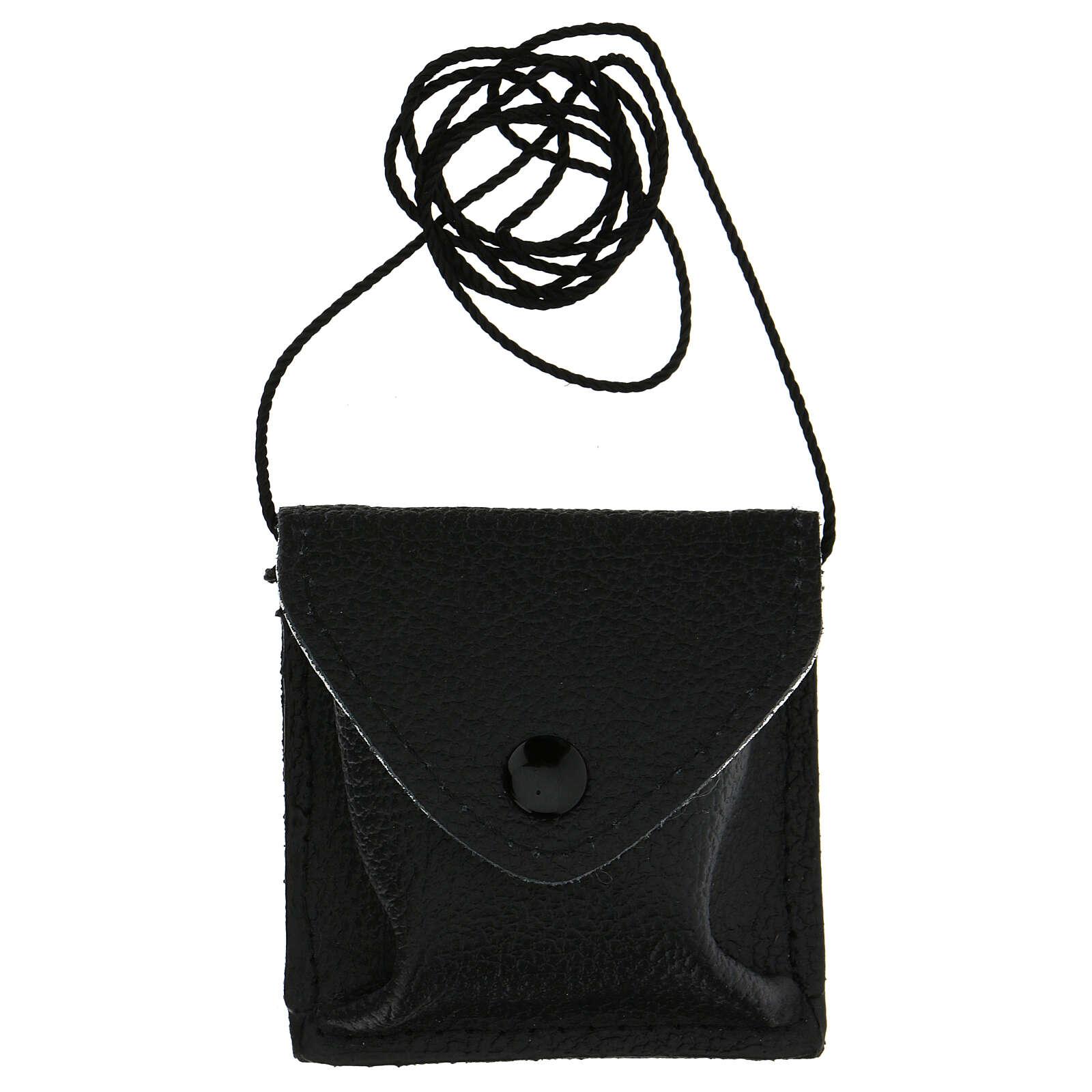 Estuche negro para viático cuero con cuerda 3