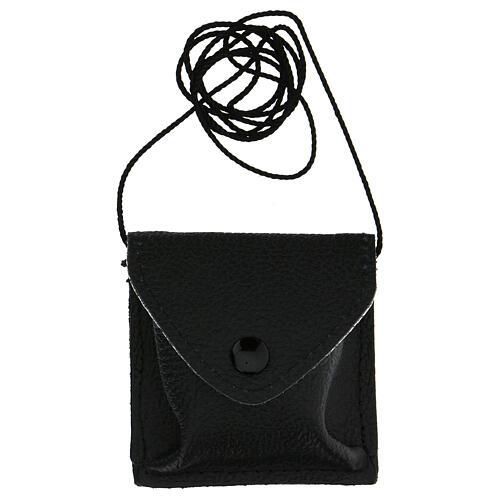 Estuche negro para viático cuero con cuerda 5