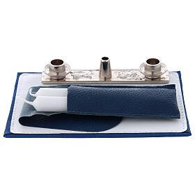 Bolso para Celebración cuero azul con bandolera s3