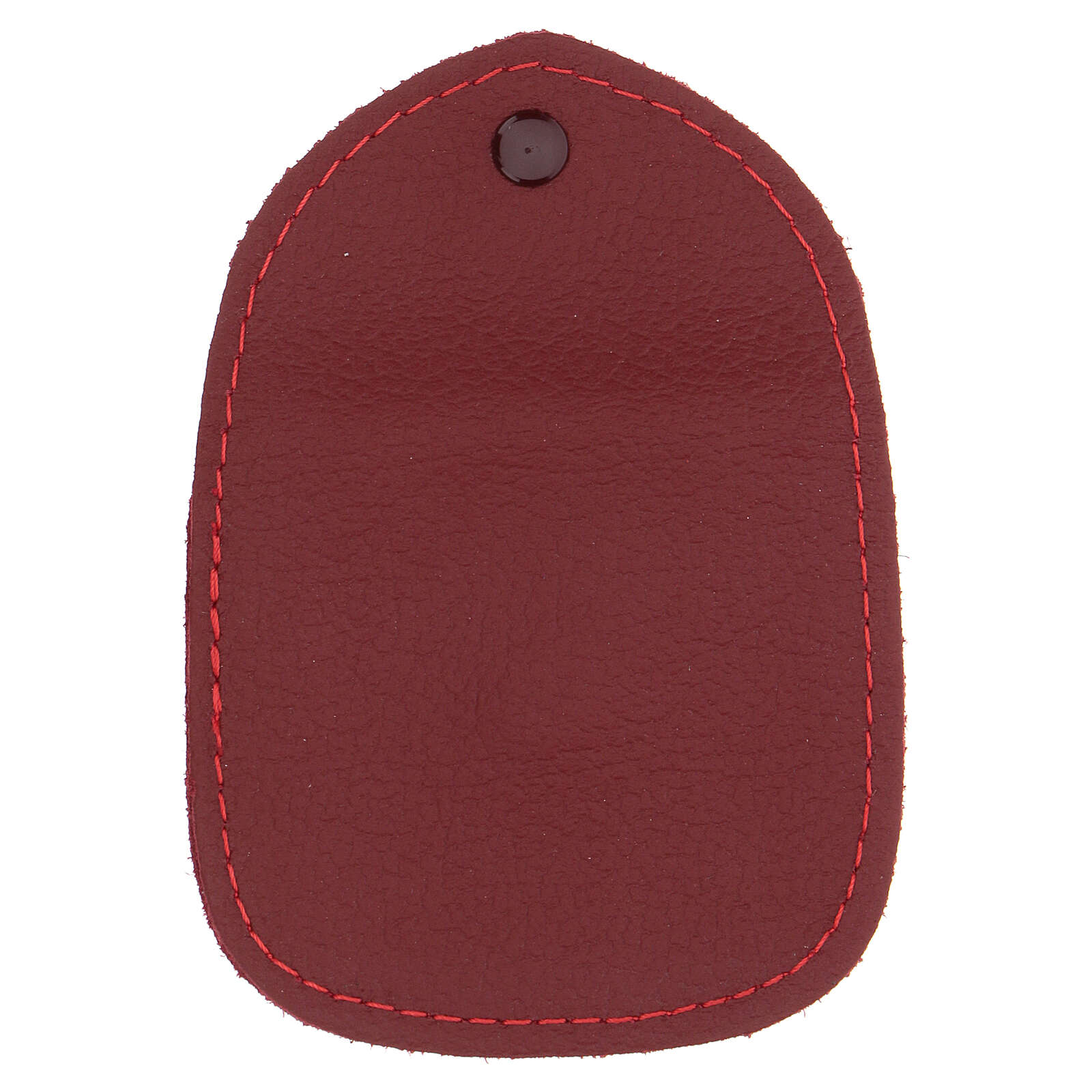 Burgundy leather rosary case made in Italy 4