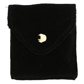 Astuccino portateca camoscio nero teca placca Eucarestia s4