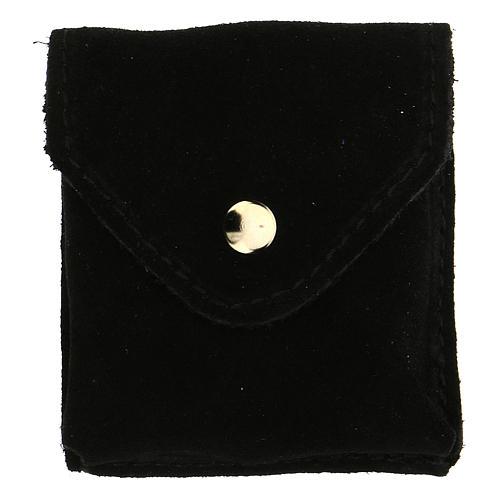 Astuccino portateca camoscio nero teca placca Eucarestia 4