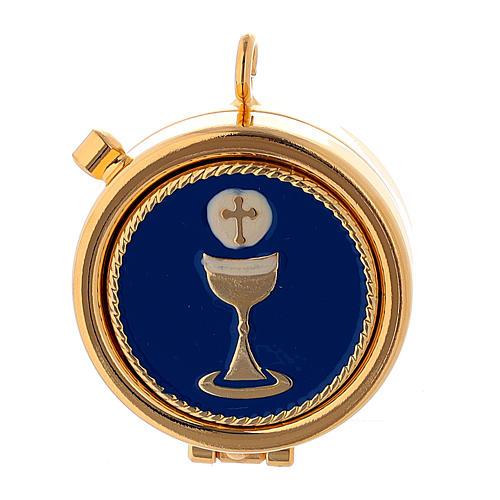 Étui pour custode jaune or custode à hosties plaque Eucharistie 2