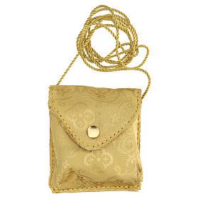Astuccio portaviatico giallo oro teca placca Eucarestia s4