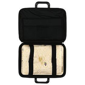 Bolso para ordenador cuero ecológico damasco con set s3
