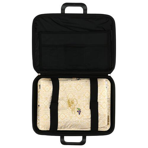Bolso para ordenador cuero ecológico damasco con set 3