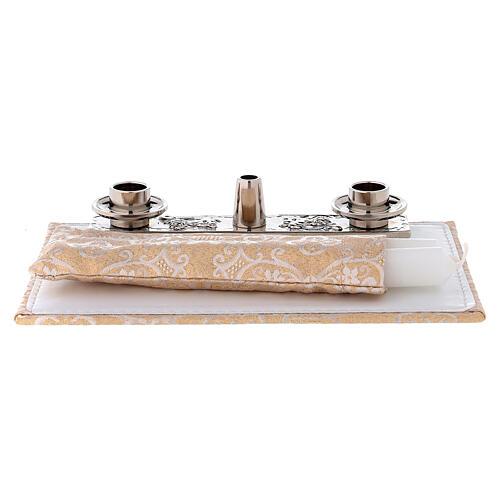 Bolso para ordenador cuero ecológico damasco con set 8