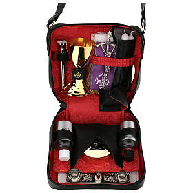 Mass kit with leather case and hammered chalice s1