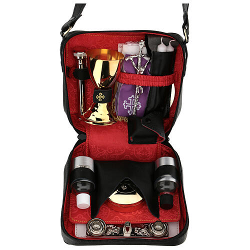 Mass kit with leather case and hammered chalice 1