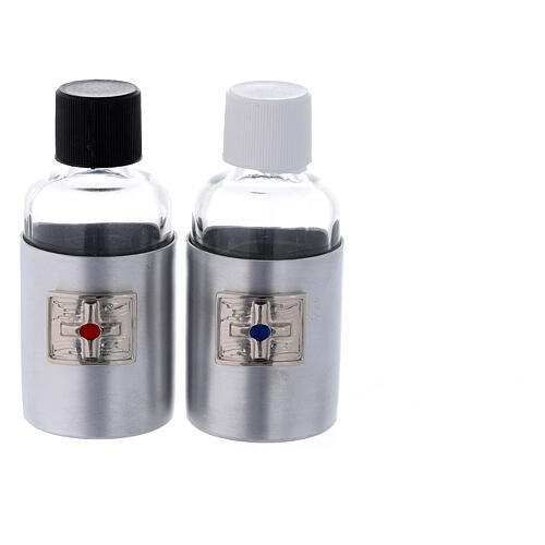 Case for Eucharist set in eco-leather and wood 5