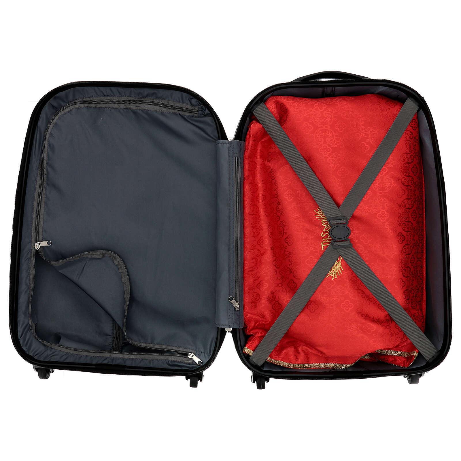 Trolley case for mass celebration with red Jacquard lining 3