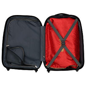 Trolley case for mass celebration with red Jacquard lining s3