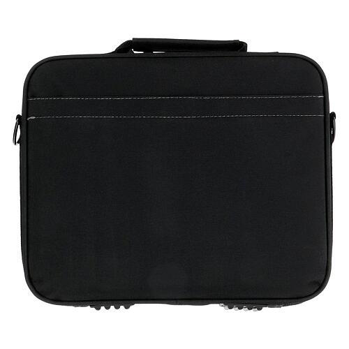 Mini bolso para ordenador para celebración con jacquard azul 12